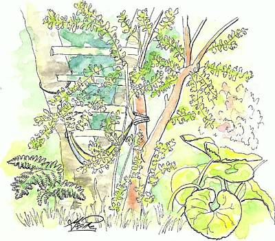 Backyard Art Print by George I Perez