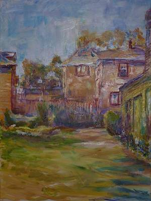 Painting - Backyard Impressions by Helen Campbell