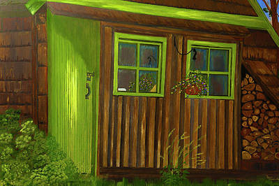 Painting - Backyard Lean To  by Dee Browning