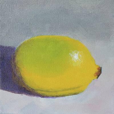 Painting - Backyard Lemon by Bill Tomsa