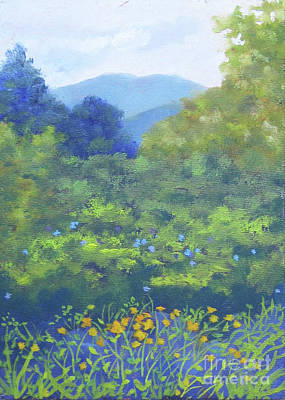 Painting - Backyard Mountain by Anne Marie Brown
