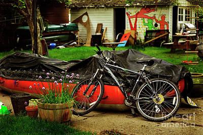 Photograph - Backyard Neighborhood Bicycle by Craig J Satterlee