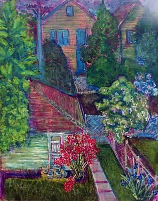 Painting - backyard on Casper by Don Thibodeaux