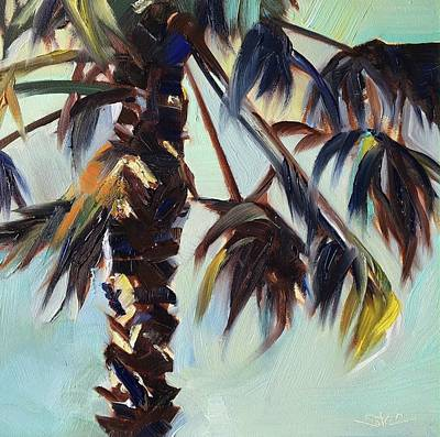 Painting - Backyard Palm by Shannon Celia
