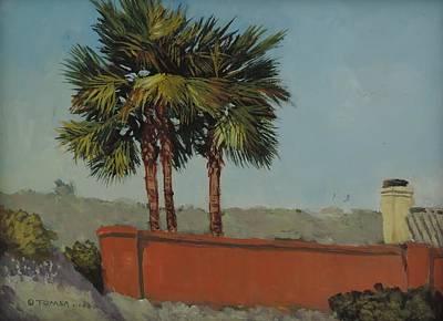 Painting - Backyard Palms - Art By Bill Tomsa by Bill Tomsa