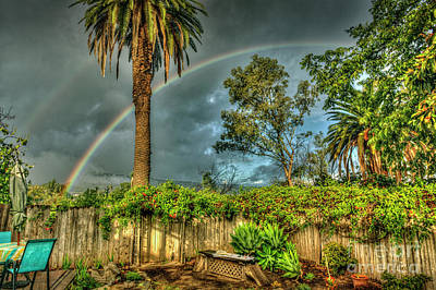 Photograph - Backyard Phone Double Rainbow by David Zanzinger