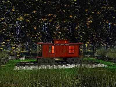 Backyard Playhouse Art Print by Michael Wimer