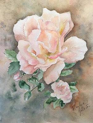 Painting - Backyard Rose by Marilyn Zalatan