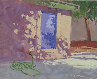 Painting - Backyard Shadows by Bill Tomsa