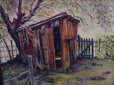 Painting - Backyard Shed by Charme Curtin