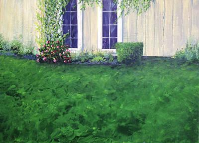 Painting - Backyard Studio by T Fry-Green