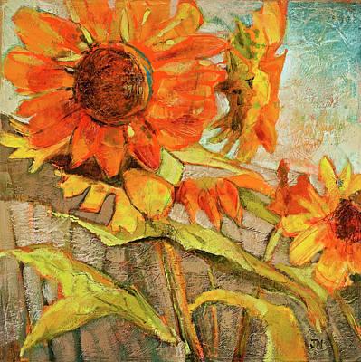 Painting - Backyard Sunflowers by Jen Norton