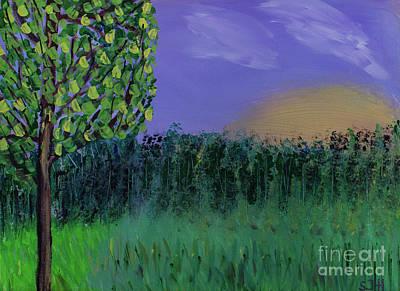 Painting - Backyard Sunrise by Scott Hervieux