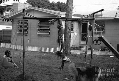 Backyard Swing Set..... Art Print by WaLdEmAr BoRrErO