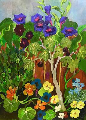 Painting - Backyard Wonders by Esther Woods