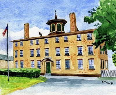 Painting - Bacon Academy, Colchester Ct. by Jeff Blazejovsky
