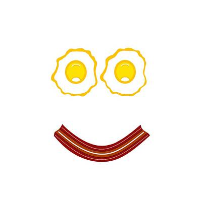 Digital Art - Bacon And Eggs Happy Face by Kathleen Sartoris