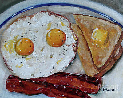 Painting - Bacon And Eggs by Kristine Kainer