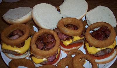 Jessica Sanders Photograph - Bacon Cheeseburgers by Jessica Sanders