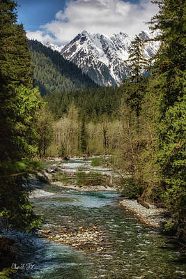 Photograph - Bacon Creek And Bacon Peak by Charlie Duncan