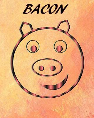 Digital Art - Bacon by Dan Sproul