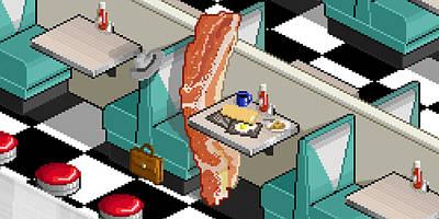 Bacon Detective Art Print