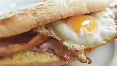 Photograph - Bacon Egg Baguette C by Jacek Wojnarowski