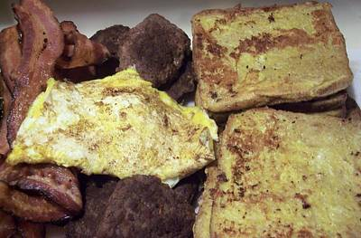 Jessica Sanders Photograph - Bacon Sasage French Toast And Eggs by Jessica Sanders