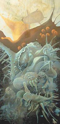 Microscopic Art Painting - Bacteria by Lauren  Macko