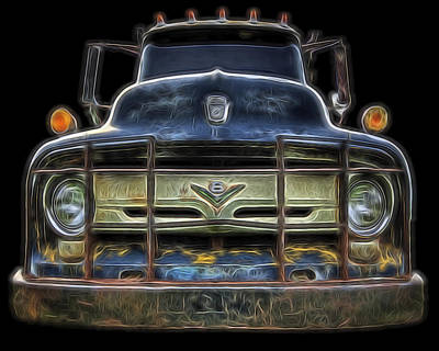 Bad 56 Ford Art Print