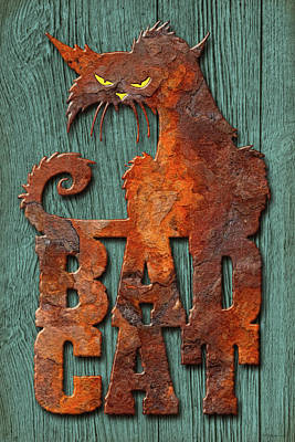 Photograph - Bad Cat by WB Johnston