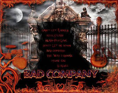 Digital Art - Bad Company by Michael Damiani