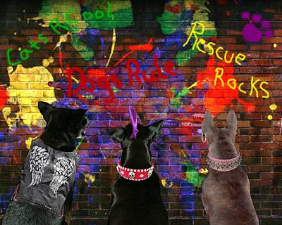 Digital Art - Bad Dogs by Terry Burgess