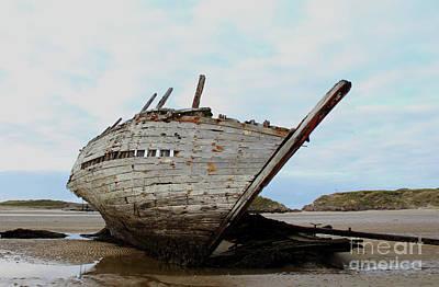 Moody Trees - Bad Eddies Boat Donegal Ireland by Eddie Barron