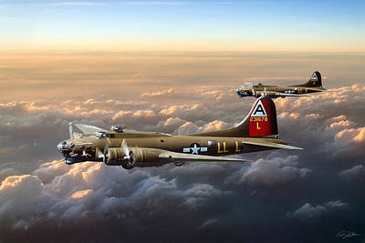 B-17 Wall Art - Digital Art - Bad Girls by Peter Chilelli