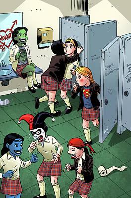 She-hulk Digital Art - Bad Girls by Scott Marcano