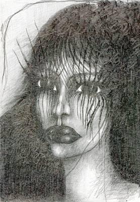 Creativity Drawing - Bad Glance by Wojtek Kowalski