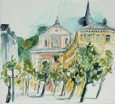 Painting - Watercolor Series 55 Bad Ischl by Ingrid Dohm