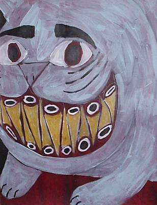 Spirit Cat Essence Painting - Bad Kitty by William Douglas