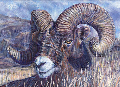 Bad Lands Bighorn Original by LeRoy Jesfield