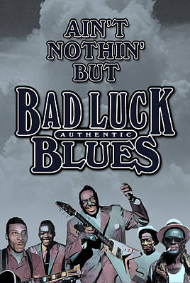 Bad Luck Blues Art Print by David Richardson