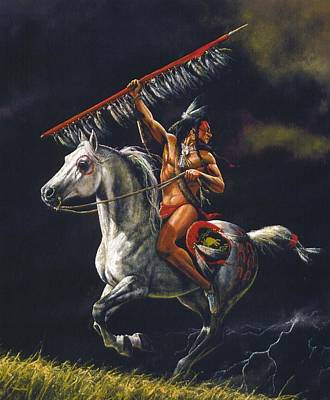 Native American Painting - Bad Medicine by Dan  Nance