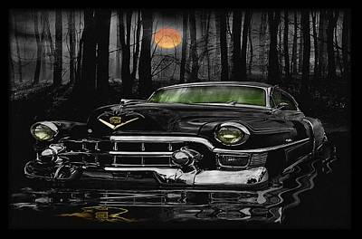 Lowrider Digital Art - Bad Moon On The Rise by Steven Vickers