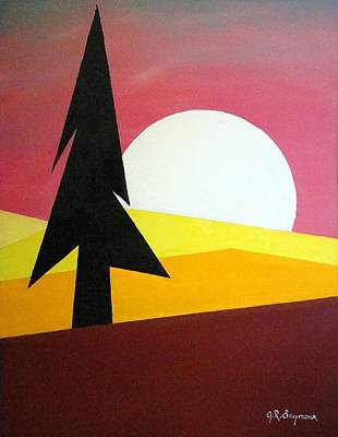 Art Print featuring the painting Bad Moon Rising by J R Seymour