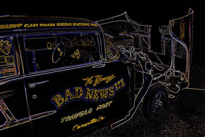 Drag Racing Mixed Media - Bad News Travels Fast by Darrell Foster