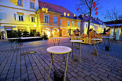 Photograph - Bad Radkersburg Christmas Market Evening Advent View by Brch Photography