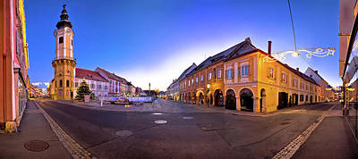 Photograph - Bad Radkersburg Main Square Evening Advent Panoramic View by Brch Photography
