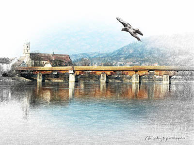 Digital Art - Bad Sackingen On The Rhine by Chris Armytage