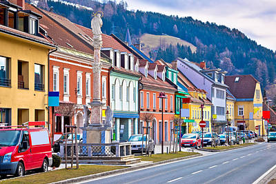 Photograph - Bad Sankt Leonhard Colorful Streetscape  by Brch Photography