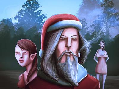 Indiana Images Drawing - Bad Santa  Sexy Elf Party by Rui Barros